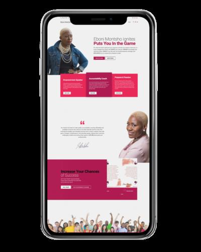 Web Design – Eboni Montsho Ignites